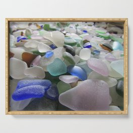 Sea Glass Assortment 6 Serving Tray