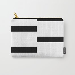Double Black White Stripe Carry-All Pouch