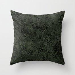 Green Silk Moire Pattern Throw Pillow