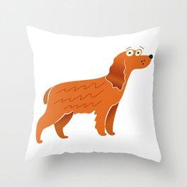Big Cocker Spaniel Gift Idea Throw Pillow