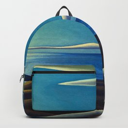 Lake Superior No. III, 1923 maritime seascape painting by Lawren Harris Backpack