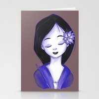 mulan Stationery Cards featuring Mulan by Lilolilosa