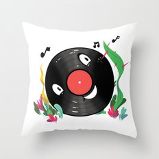 Vinyl Guy Throw Pillow