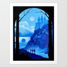 Hogwart Castle Art Print