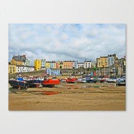 Tenby Harbour . Sunlight. Pembrokeshire. Wales. Canvas Print