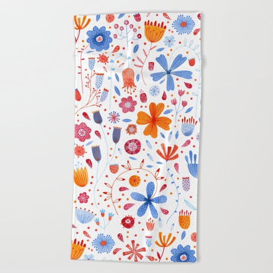 English Meadow Beach Towel