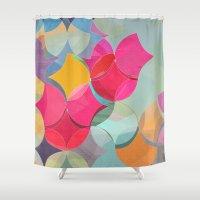 fifth harmony Shower Curtains featuring HARMONY by Julia Tomova