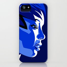 Blue Shadow iPhone Case