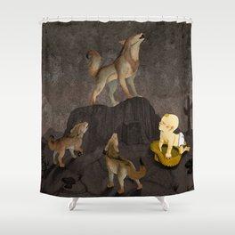 Teaching the Pups Shower Curtain