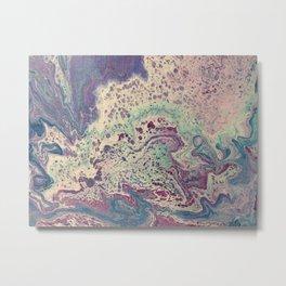 Periwinkle Seafoam Dance Metal Print