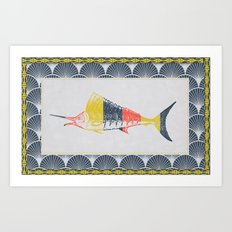 Thrift Store Fish 2 Art Print