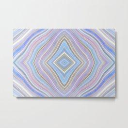 Mild Wavy Lines VII Metal Print
