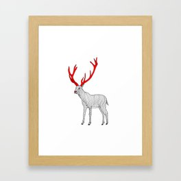 Red Nose Framed Art Print