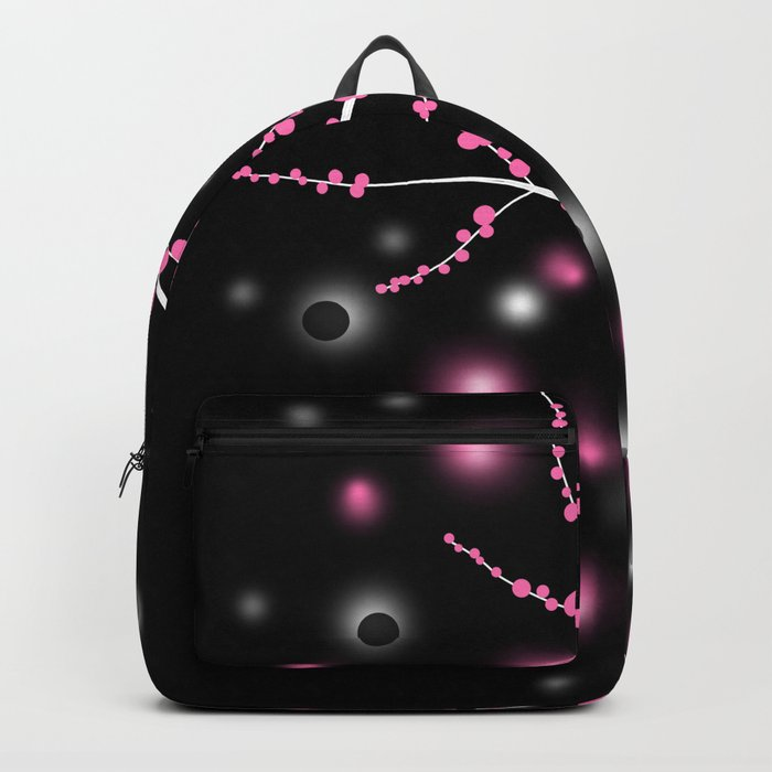 Black and pink abstract pattern . Backpack