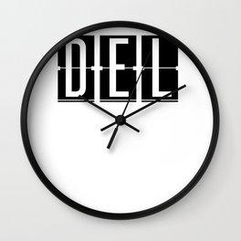 DEL - Delhi - India Airport - Airport Code Souvenir or Gift Design  Wall Clock
