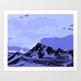 Chugach Mountains - Blue Pop Art Art Print