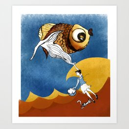 Nora's Fish 2 Art Print
