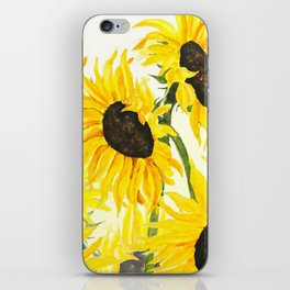 sunflower watercolor 2017 iPhone Skin