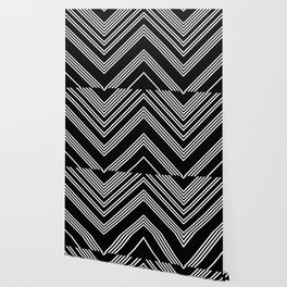 Back and White Lines Minimal Pattern No.3 Wallpaper