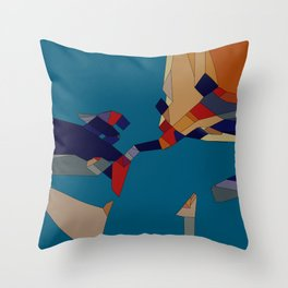 onBlue Throw Pillow