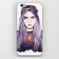 cara delevingne iPhone & iPod Skins featuring Cara Delevingne by Alana Mays Creative