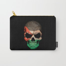Dark Skull with Flag of Jordan Carry-All Pouch