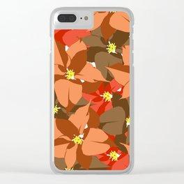 Poinsettia Love Clear iPhone Case