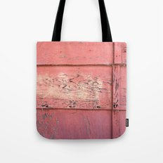 Weathered Red Siding Tote Bag