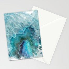 Blue Aqua Agate Stationery Cards