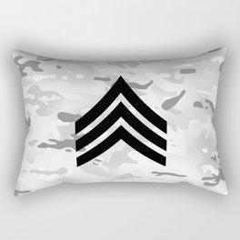Sergeant (Snow Camo) Rectangular Pillow