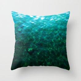 Dioptase Deeps Throw Pillow