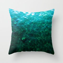 Dioptase Deeps Throw Pillow