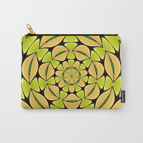 Orange/Green abstract Carry-All Pouch