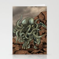 cthulhu Stationery Cards featuring Cthulhu by MrDenmac