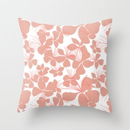 Gaura Floral Simple Throw Pillow