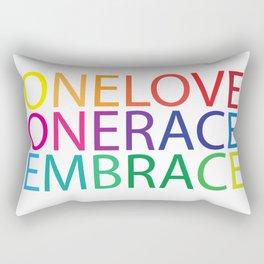One Love, One Race, Embrace Rectangular Pillow