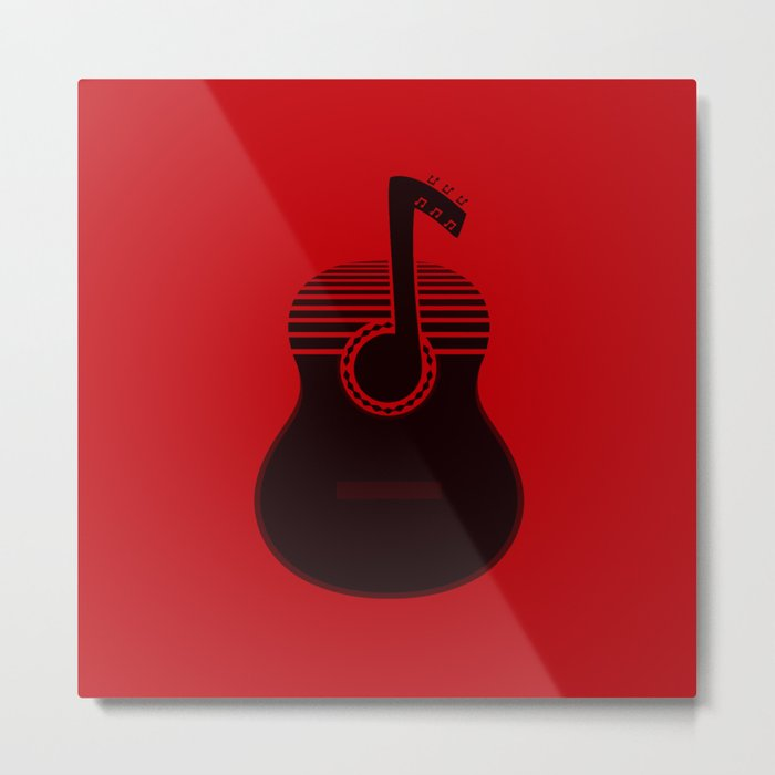 Classical Notes RED Metal Print