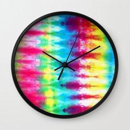 Boho Tie Dye Wall Clock