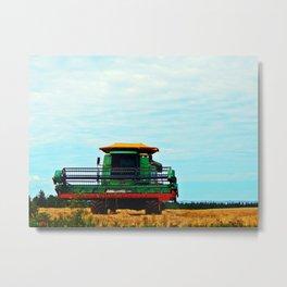 Harvester on the Ridge Metal Print