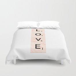 Scrabble LOVE Vertical Duvet Cover