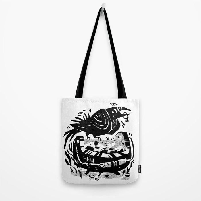 Crow Cauldron Tote Bag