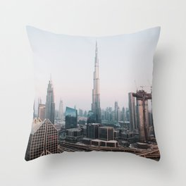 Dubai Skyline Sunset | Travel Photography | Throw Pillow