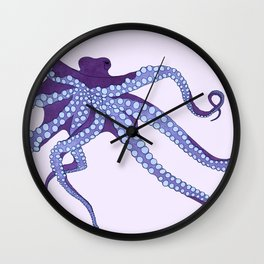 Awesome Purple Octopus Wall Clock