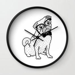 Diplomatic Pug Wall Clock