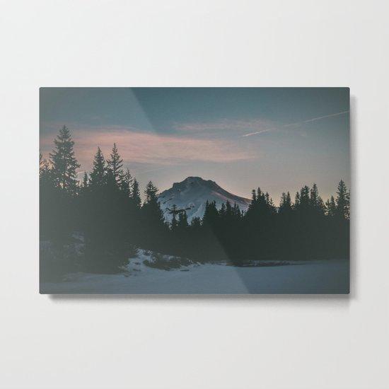 Frozen Mirror Lake Metal Print