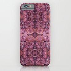 Dark florals-hippie, psychedelic, woodland, mandala, purple, red iPhone 6s Slim Case