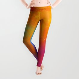 Summer Storm Abstract Painting Leggings