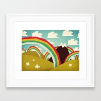olivia joy Framed Art Prints featuring Happy happy joy joy! by Yetiland
