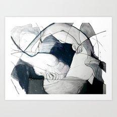 A Cameo Heart Art Print