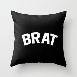 BRAT Throw Pillow